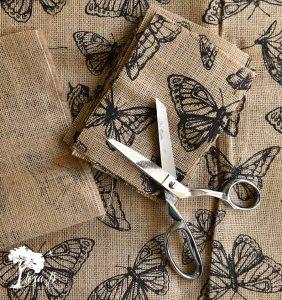 Butterfly burlap