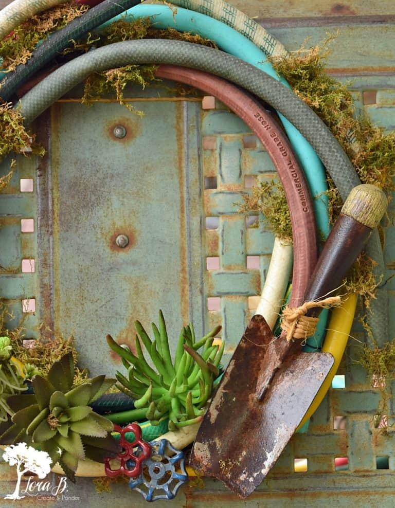 DIY Garden Hoses Wreath