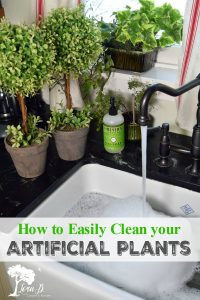 cleaning artificial plants