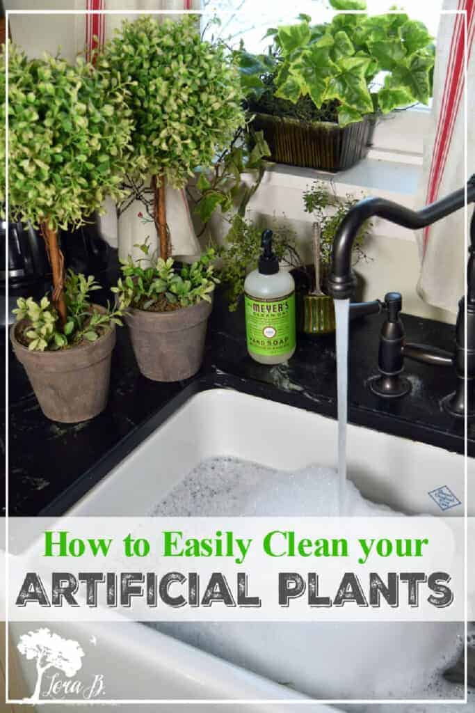 cleaning artificial plants tip