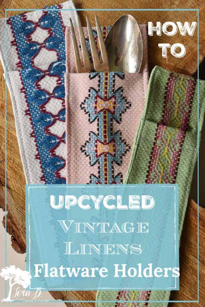 vintage linens silverware pocket