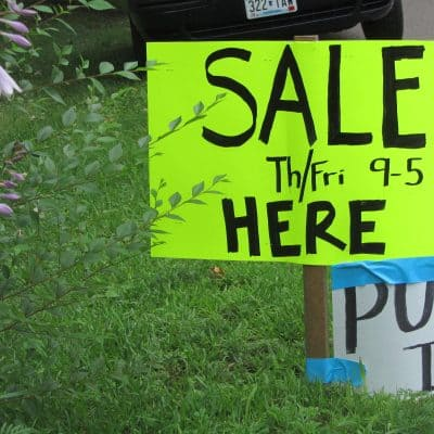 Garage/Yard Sale Tips
