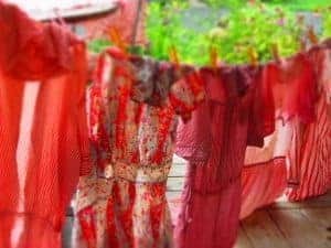 vintage clothes line drying
