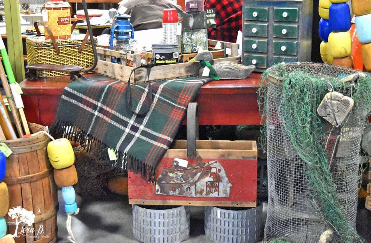 vintage market cabin display