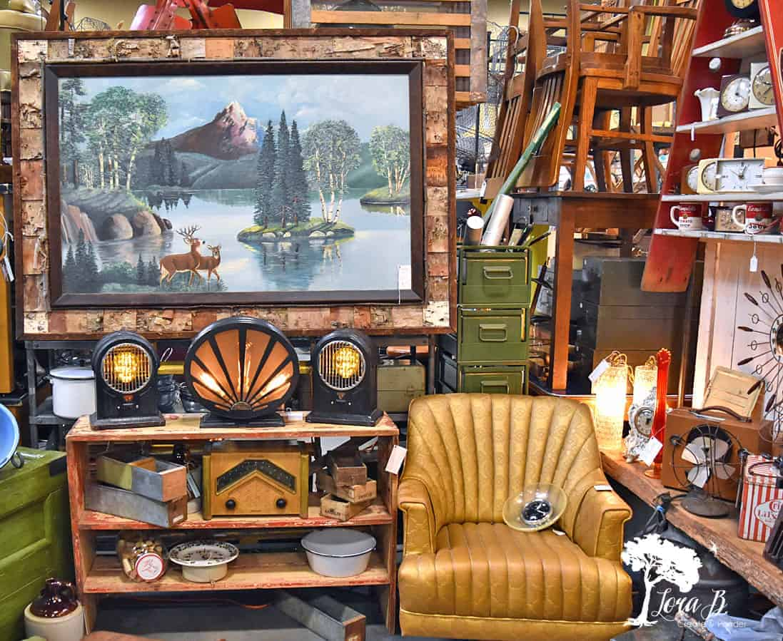 vintage market display