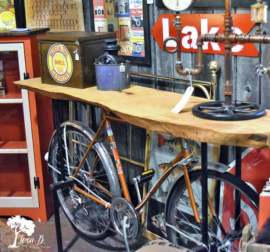 upcycled bike table