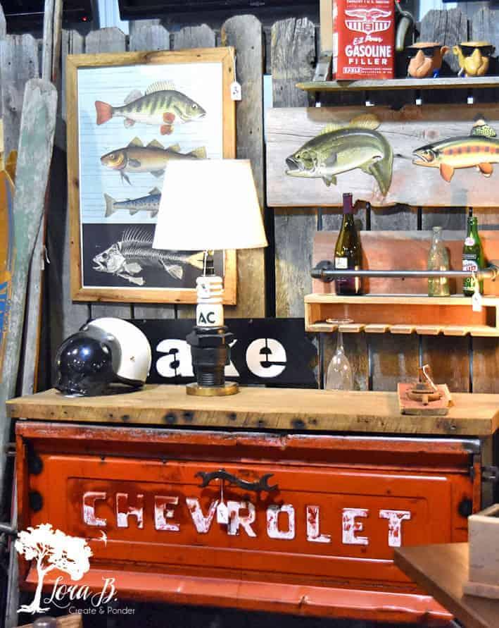 repurposed vintage truck table