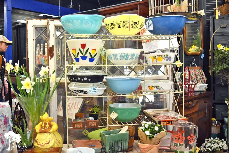 vintage pyrex display