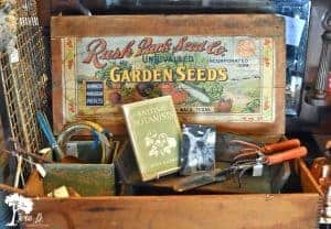 vintage garden display