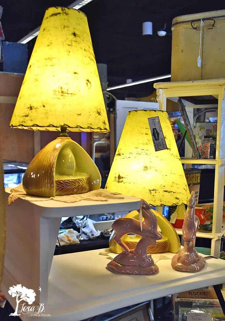 mod vintage lamps