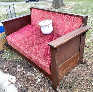 old wood daybed