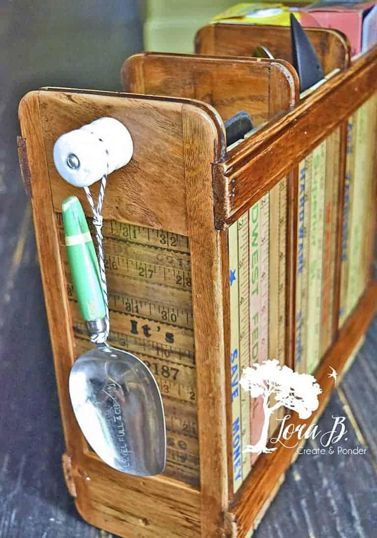 Repurposed Vintage Sewing Machine Drawer Organizer
