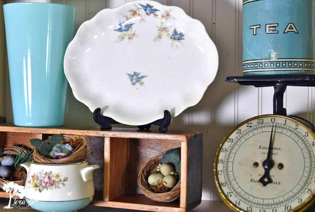 vintage bluebird dishes