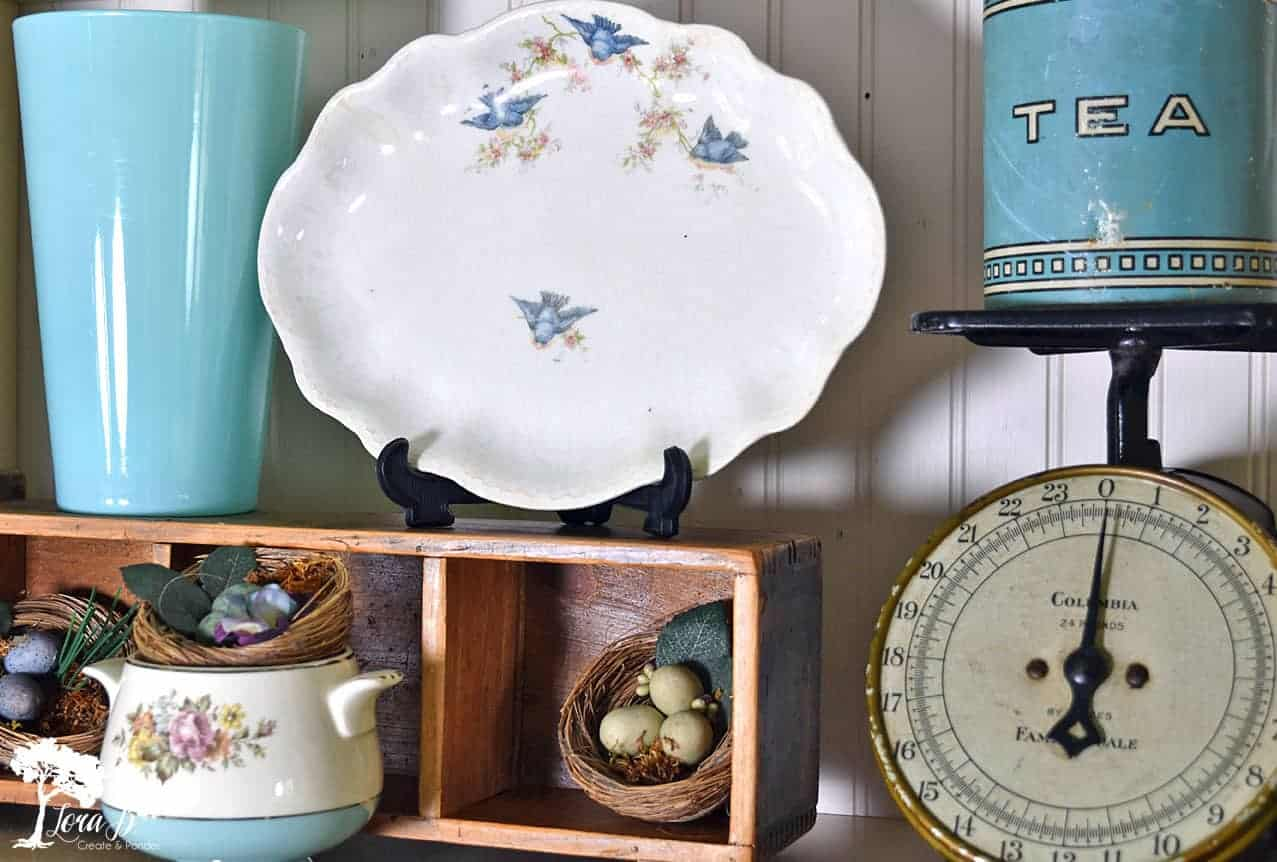 vintage bluebird dishes