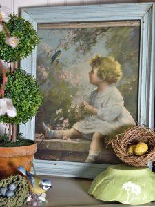 vintage bluebird framed pic