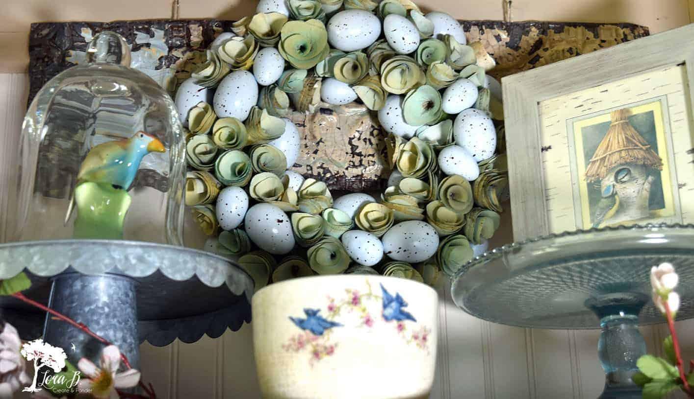 vintage bluebird dish