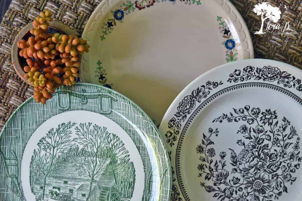 transition to fall home with vintage dishes