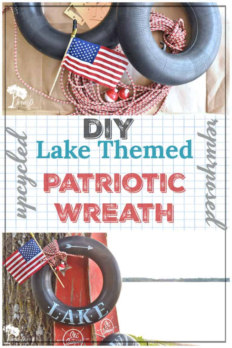 DIY Lake Themed Patriotic Wreath