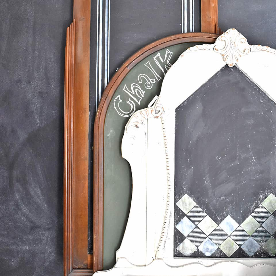 Vintage mirror frames are a fun way to enjoy chalkboards in your home decor.
