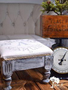 feedsack mini stool how to