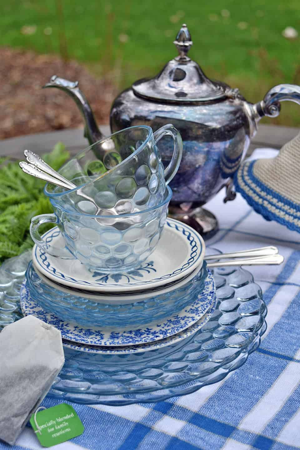Blue and White Tea Party for Mom