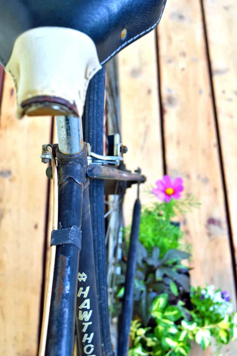 Vintage Bicycle Garden Art