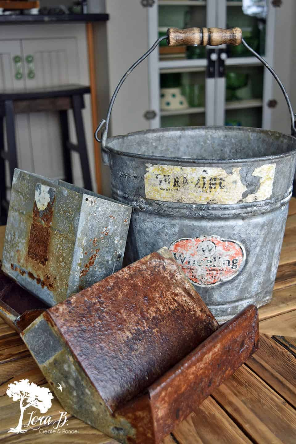 How to Refresh Vintage Galvanized Metal