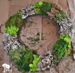Mixed Moss Grapevine Wreath DIY