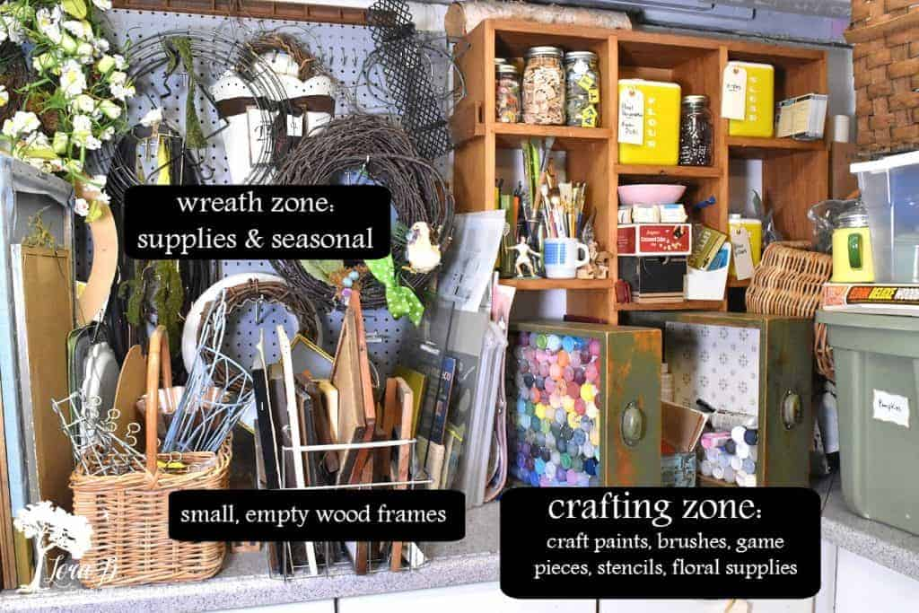 organizing ideas for seasonal decorators and crafters