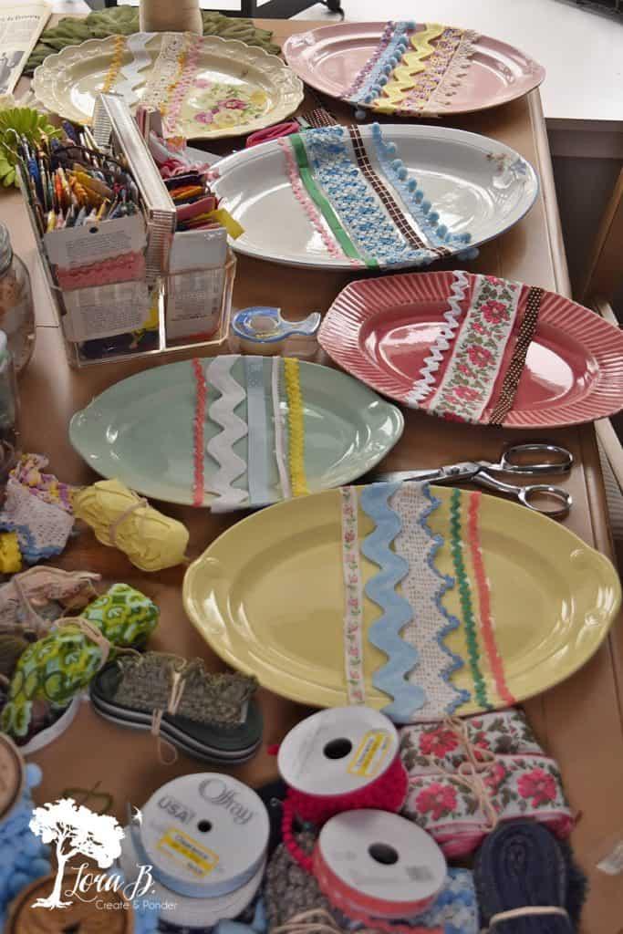 Oval Platter Easter Eggs