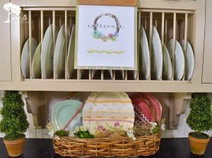 Oval platters as Easter Eggs