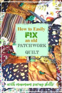 old patchwork quilt