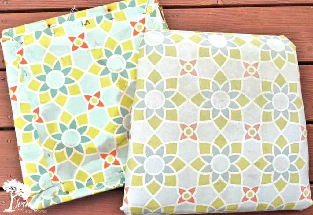patio seat cushion makeover
