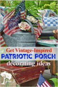 patriotic porch decorating