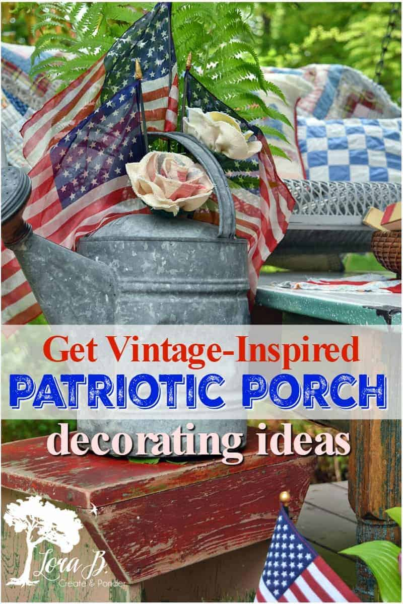 patriotic porch decorating