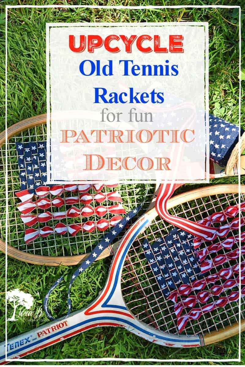 upcycled tennis racket