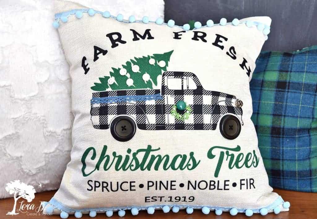 Christmas decor pillow