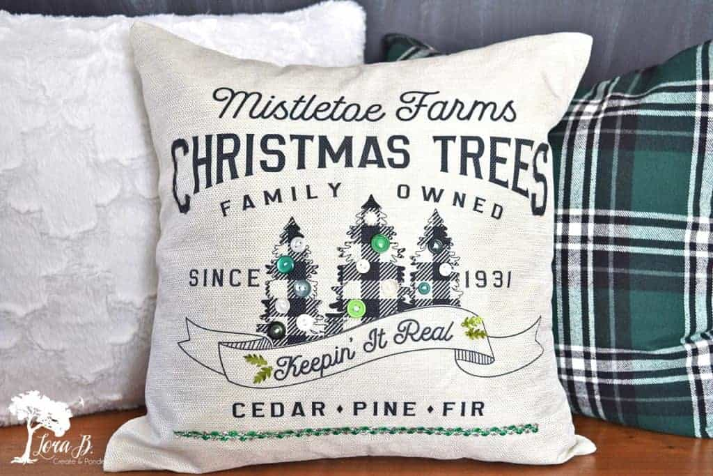 Christmas decor pillow how to