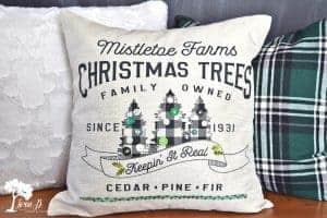Christmas decor pillow how to