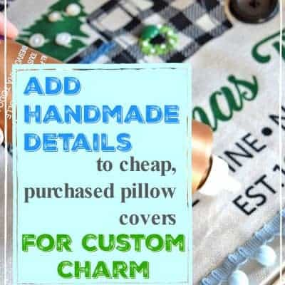 How to Easily Give Purchased Pillow Covers Custom Charm
