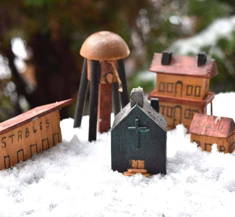 Vintage Town Christmas Vignette