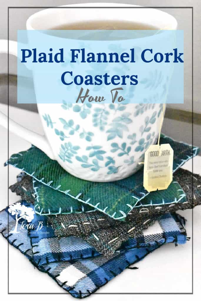 DIY Plaid Flannel Coasters how to