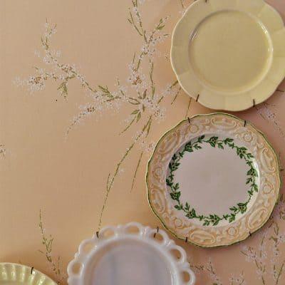 Adding Foliage to a Plate Wall Display
