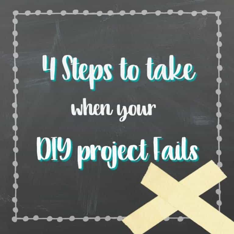 4 Steps to Take When Your DIY Project Fails