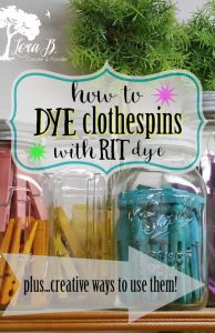 how to dye clothespins with RIT