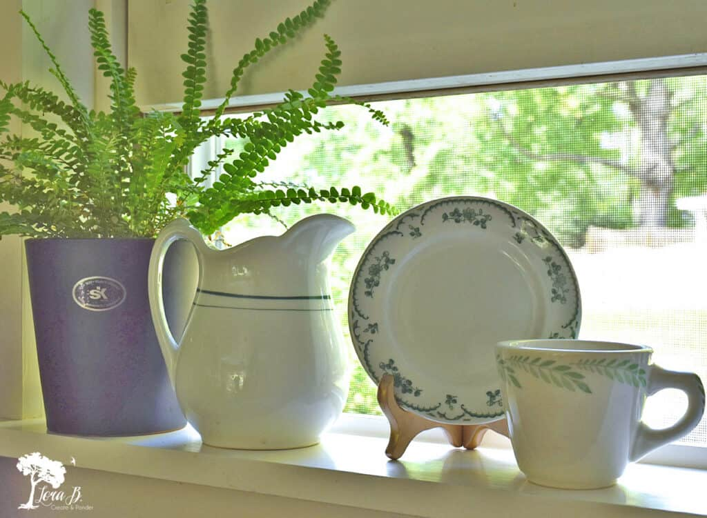 Green and white vintage dishes were some of my recent vintage finds.