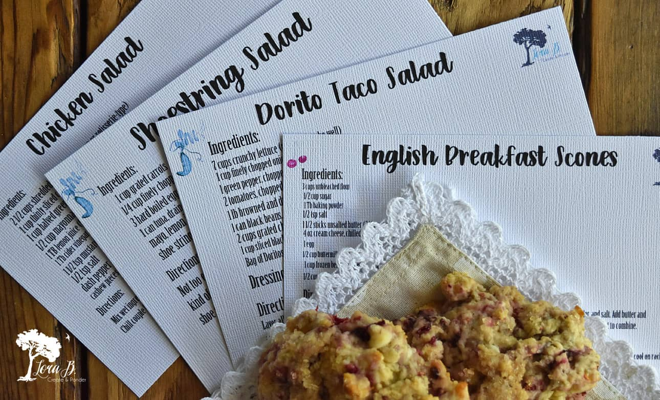 Picnic Recipe Cards