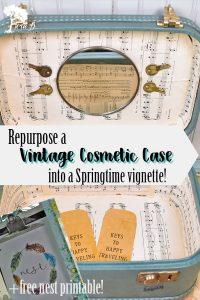 Re-purposing a Vintage Cosmetic Case