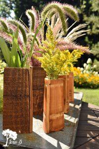 Repurposed Vintage Bucket Vase