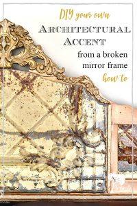 old mirror frame repurpose